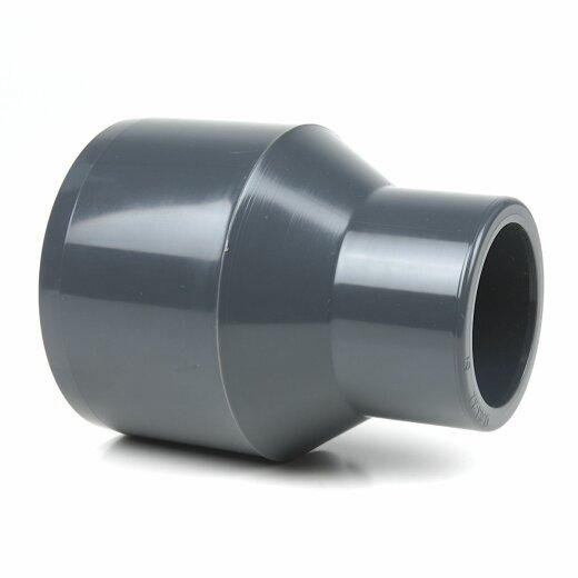 5 x PVC Reduktion 50x40 PN16 Winkel Muffe Klebefitting Fittings Reduzierung