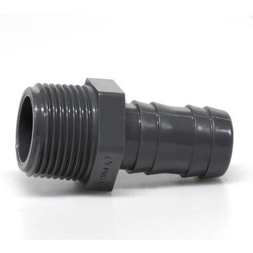 """Ordentlich PVC-Schlauchtülle1 1/2"""" (47,80 mm) Außengewinde für 50 mm Schlauch LJ51"""