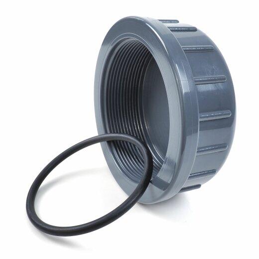 """Verschlusskappe 3//4/"""" Zoll mit Gummidichtung PVC-U Deckel Innengewinde"""