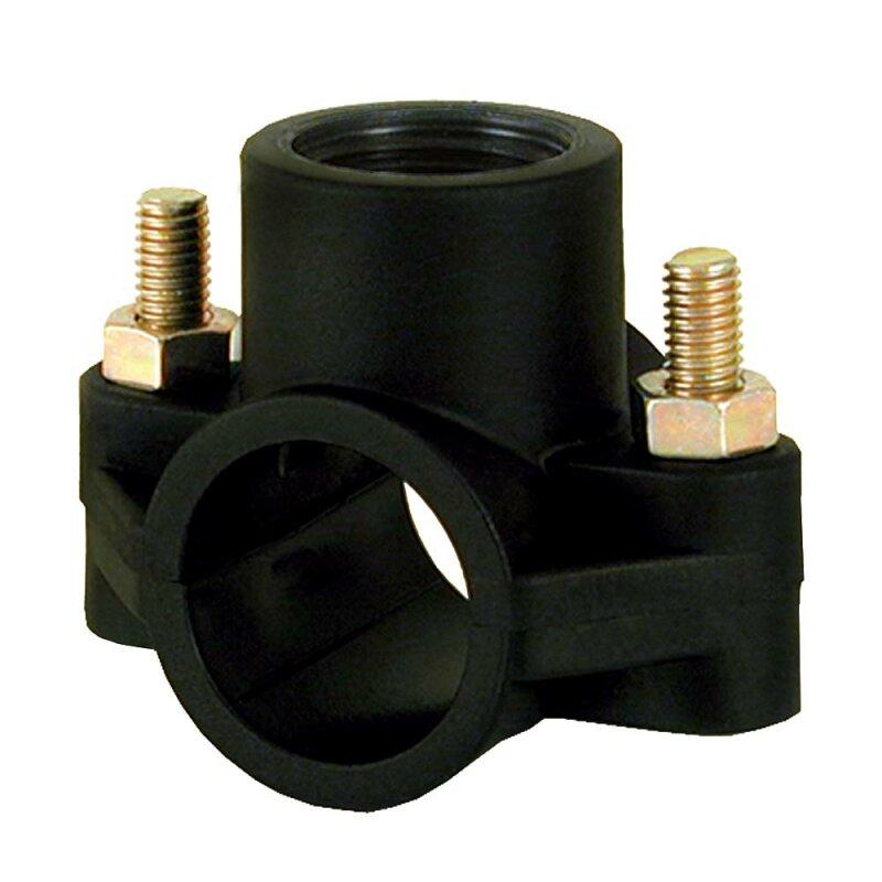 PE Rohr Anbohrsattel 40 mm x 1 Zoll Innen-Gewinde Anbohrschelle Anbohrschellen