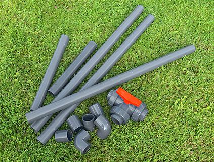 Materialbeschaffung für den Gartenteich